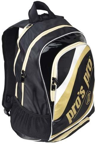 Rucsac tenis metalic auriu L119