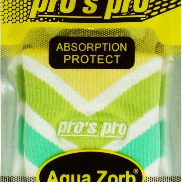 h175c-prospro-schweissband-aqua-zorb-weiss-gruen-gelb